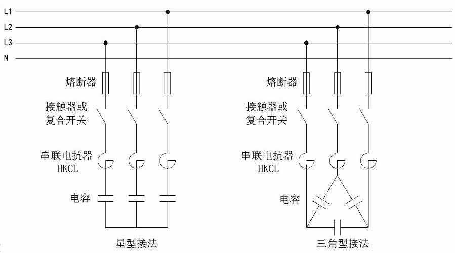 注:每台电抗器串联一只电容器